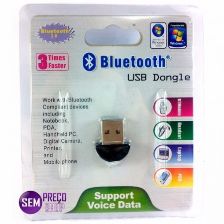 Adaptador Bluetooth Dongle Usb 2.0
